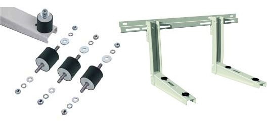 wall bracket with vibration dampers